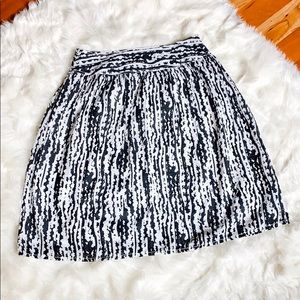 Liz Claiborne Black & White Textured Full Skirt